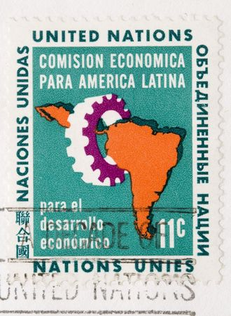 united nations: This is a Vintage 1961 Canceled US Postage Stamp United Nations Latin America