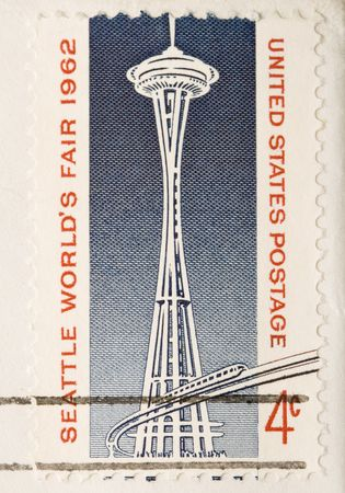 This is a Vintage 1962 Canceled US Stamp Space Needle