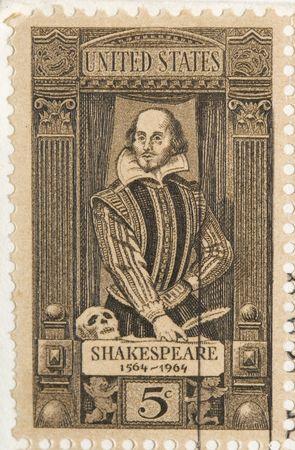 이 빈티지 1964 우표 셰익스피어입니다.