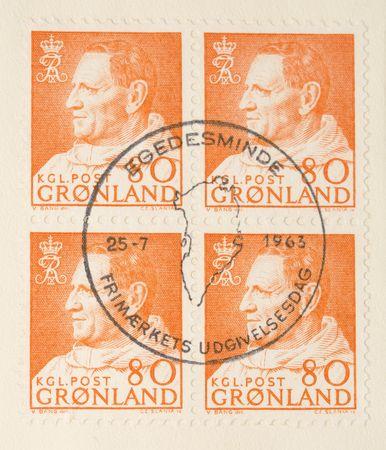 Anorak: Dies ist ein Jahrgang 1964 Stempel Gr�nland Blue King