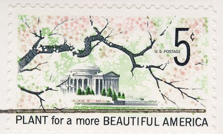 This is a vintage 1966  Stamp Plant for Beautfiful America Stock Photo - 3655662