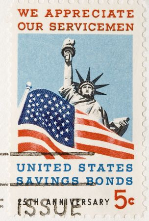 This is a vintage 1966  Stamp Appreciate Servicemen Bonds