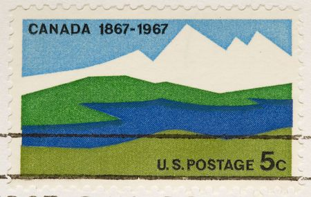 canada stamp: This is a vintage 1967  Stamp Canada Anniversary