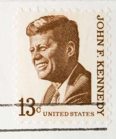 This is a vintage 1967  Stamp John F Kennedy Stock Photo - 3655643