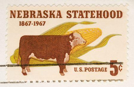 statehood: This is a vintage 1967  Stamp Nebraska Statehood
