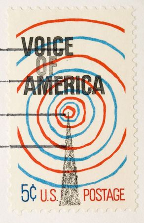 postage stamp: This is a vintage 1967  Stamp Voice of America