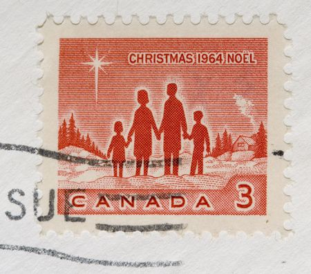 canada stamp: This is a Vintage 1964 Canada Christmas Stamp