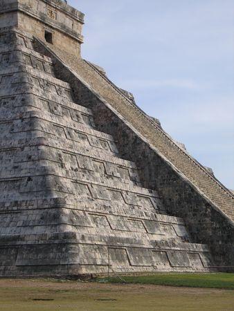 This is Mayan Chitzen Itza Pyramid Stock Photo