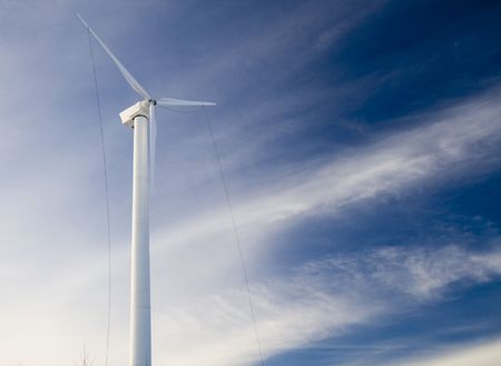 this is a Wind turbine under construction Stock Photo - 4251428