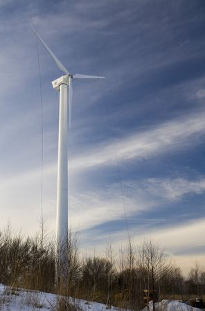 This is a Wind turbine under construction Stock Photo - 4251432