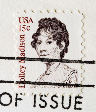 madison: This is a Postage Stamp dolly madison