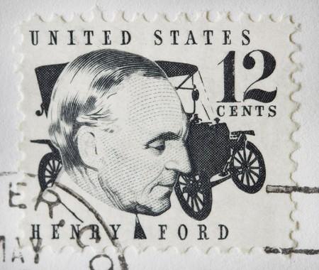 sello postal: Se trata de un Henry Ford Sello