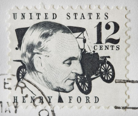 postage stamp: This is a Henry Ford Stamp