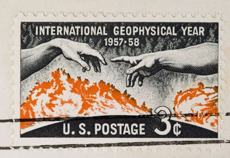 geophysical: This is a Postage Stamp International Geophysical year 1957 1958