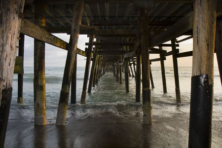 pilings: This is Under the Pier Stock Photo