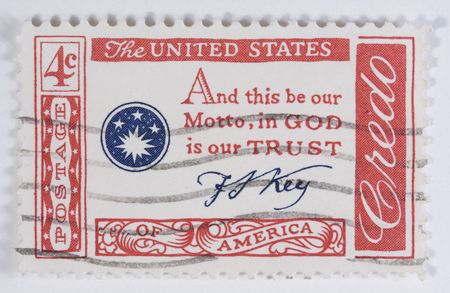 motto: francis scott key Motto in god we trust