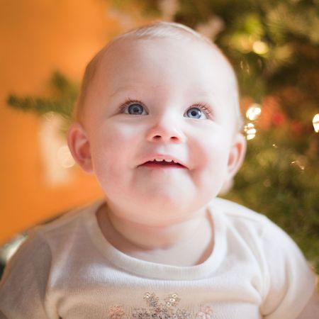 This is a Baby Happy during Xmas Stock Photo - 6054908