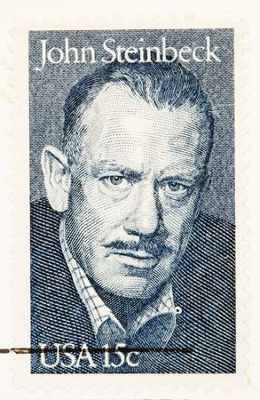 steinbeck: USA - CIRCA 1979: A stamp printed by USA shows John Steinbeck American Author and Noble Laureate, circa 1979.