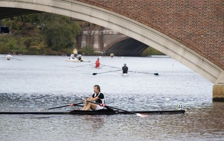 sculling: BOSTON - OCTOBER 18: In the Head of Charles Regatta, On October 18th, 2008 David Jillings finishes the race 21st.