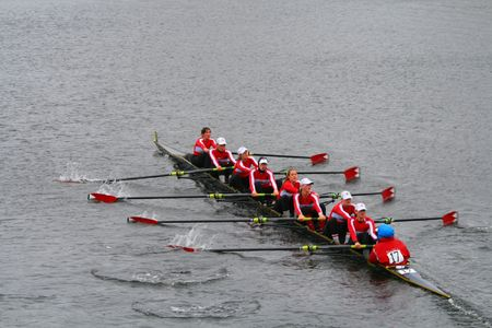 BOSTON - OCTOBER 18: McGill University womens rowing team competes in the Head Of The Charles Regatta on October 18, 2009 in Boston, Massachusetts.
