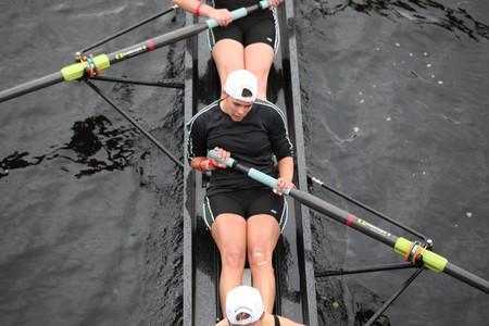 BOSTON - OCTOBER 24: William Smith Collegiate Women competes in the Head of the Charles Regatta  on October 24, 2010 in Boston, Massachusetts.