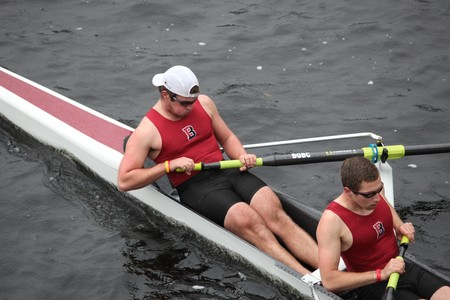 BOSTON - OCTOBER 24: Bates College mens Crew competes in the Head of the Charles Regatta on October 24, 2010 in Boston, Massachusetts.