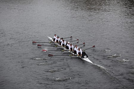 BOSTON - OCTOBER 24: Florida Institute of Technology mens Crew competes in the Head of the Charles Regatta on October 24, 2010 in Boston, Massachusetts.