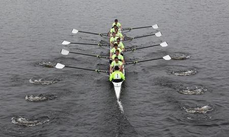 BOSTON - OCTOBER 23: University of Washington races in the Head of Charles Regatta Harvard University won with a with a time of 14:17 on October 23, 2011 in Boston, MA.