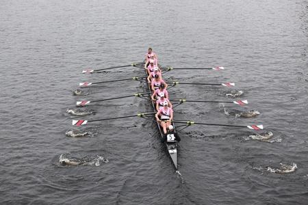 oars: BOSTON - OCTOBER 23: Northeastern University Women Editorial
