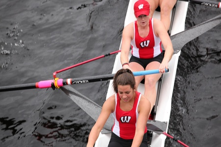 university of wisconsin: BOSTON - OCTOBER 23: University of Wisconsin womens Eights races in the Head of Charles Regatta. Williams College won with a time of 14:17 on October 23, 2011 in Boston, MA.
