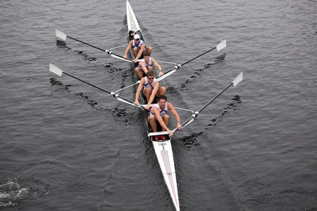 university of wisconsin: BOSTON - OCTOBER 23: US Rowing Mens Fours races in the Head of Charles Regatta. University Of Wisconsin Mens Crew won with a time of 16:12 on October 23, 2011 in Boston, MA.