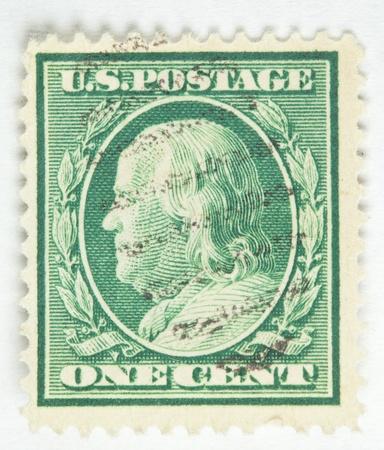 Benjamin Franklin. United States - circa 1910 photo