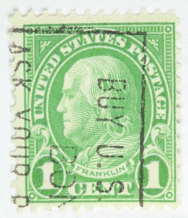 statesman: Benjamin Franklin. United States - circa 1922-1926