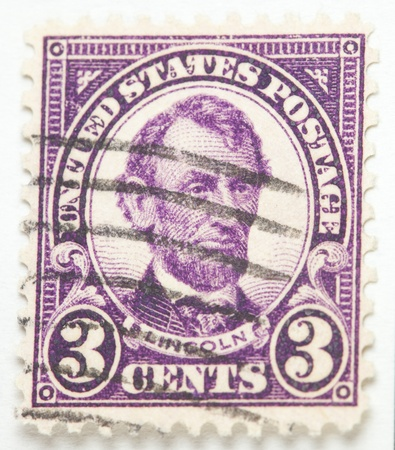 postage stamp: President Lincoln. United States - circa 1922-1927