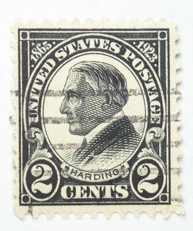 warren: President Warren Harding. United States - circa 1922-1929  Stock Photo