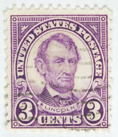 링컨 대통령. 미국 - 1927 경 에디토리얼