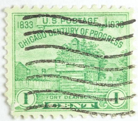 Fort Dearborn Chicago Century of Progress, now Chicago, United States circa 1933 photo