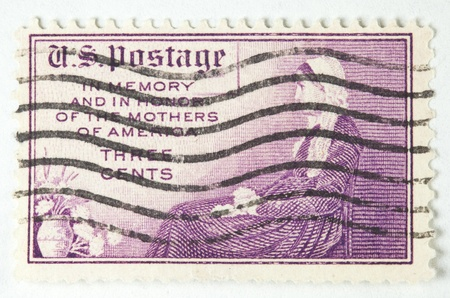 usps: Memory And In Honor Of The Mothers Of America Postage Stamp circa 1934 Stock Photo
