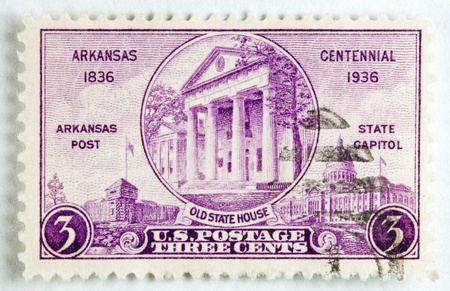 old state house of Arkansas for it centennial, circa 1936.  photo