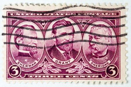 three Union generals of the Civil War, Grant, Sherman and Sheridan, circa 1936  photo