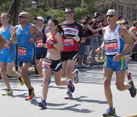 ボストン マラソン 2014 報道画像