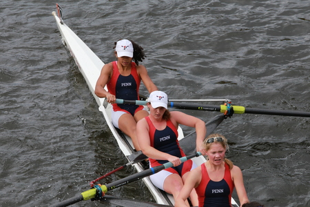 sculling: University of Pennsylvania races in the Head of Charles Regatta Womens Championship Eights Editorial