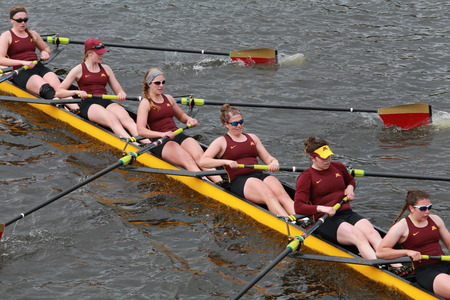 Minnesota University races in the Head of Charles Regatta Women\'s Championship Eights