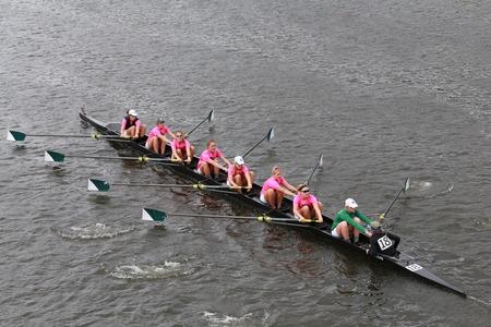 sculling: Dartmouth College races in the Head of Charles Regatta Women\