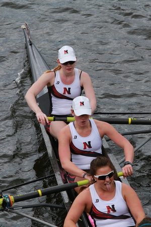 Northeastern University races in the Head of Charles Regatta Womens Championship Eights
