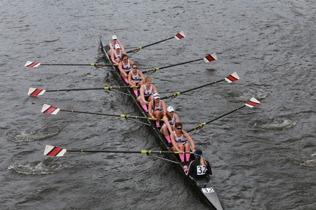 eights: Northeastern University races in the Head of Charles Regatta Womens Championship Eights