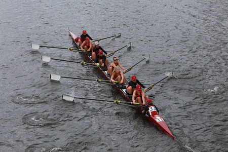 eights: Alabama University races in the Head of Charles Regatta Womens Championship Eights