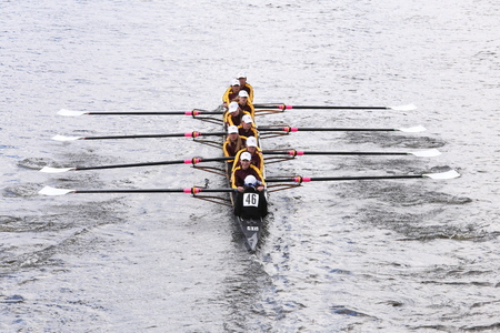 eights: Loyola Academyraces in the Head of Charles Regatta Womens Youth Eights BOSTON - OCTOBER 18, 2015