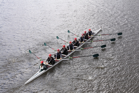 eights: Branksomeraces in the Head of Charles Regatta Womens Youth Eights BOSTON - OCTOBER 18, 2015