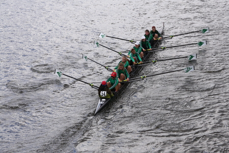 eights: Wilson High School races in the Head of Charles Regatta Womens Youth Eights BOSTON - OCTOBER 18, 2015